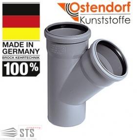 Тройник канализационный 67° Ostendorf
