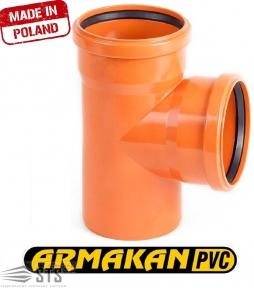 Тройник канализационный наружный ARMAKAN ПП 160