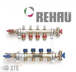 Распределительный коллектор с расходомерами Rehau HKV-D