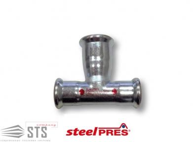 Тройник редукционный стальной  оцинкованный (отопление)  STEELPRES®  RM