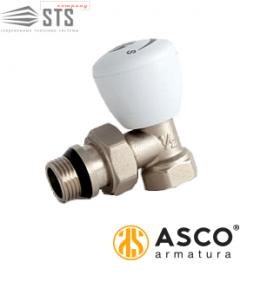 Кран радиаторный угловой вентильный ASCO Armatura