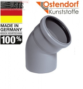 Колено канализационное 30° Ostendorf