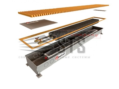 Внутрипольные конвекторы с естественной конвекции Polvax KE.300.120